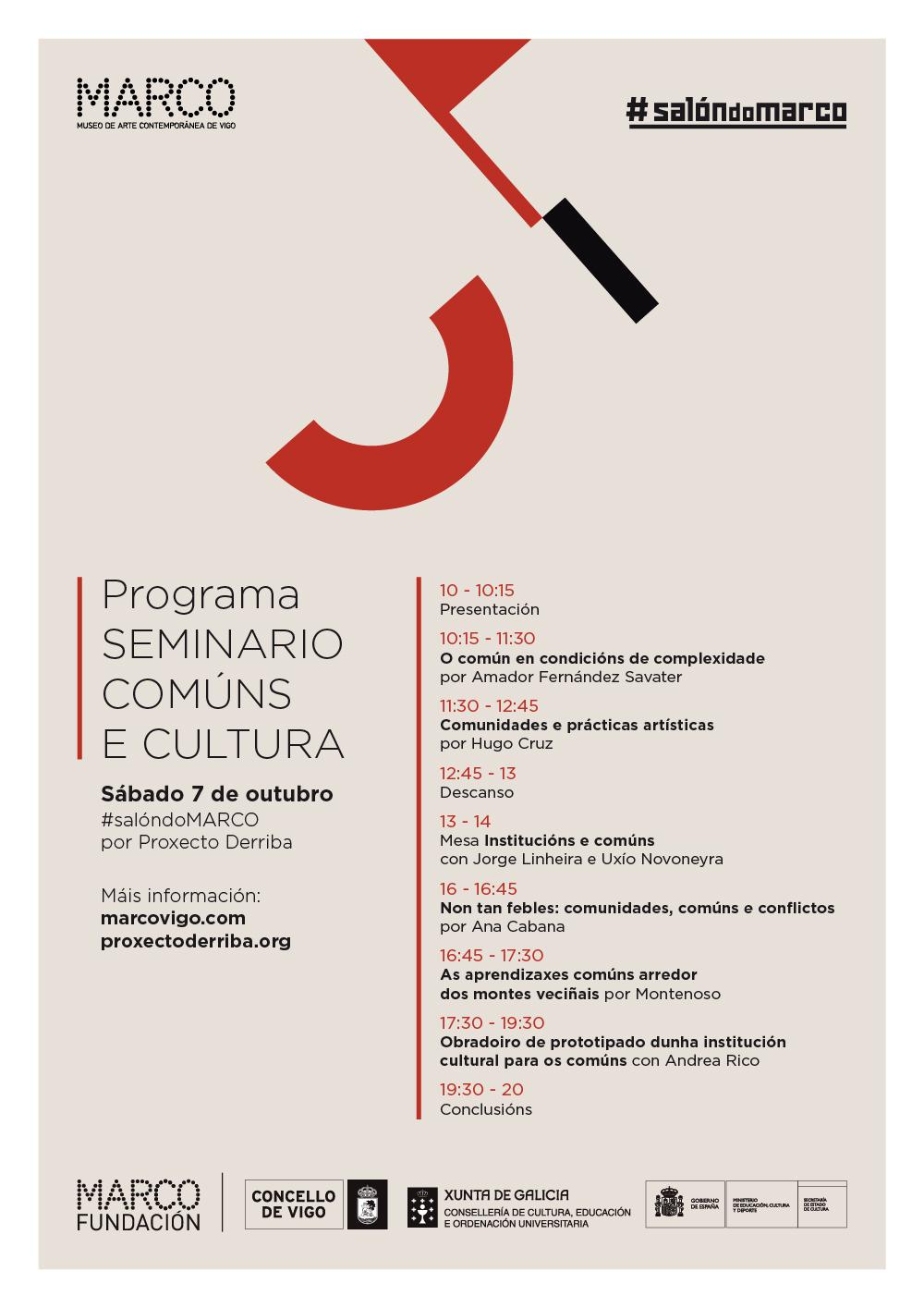 Participamos no Seminario Comúns e Cultura no MARCO de Vigo